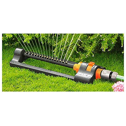 Quantum - Irrigatore oscillante compatto ECO-2813, da giardino, Black Line