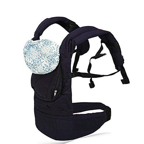 Foxnovo Multi-funzionale fascia per bebè, baby carrier zaino confortevole infantile sling impacco con cappuccio