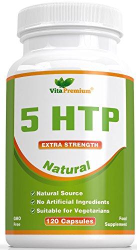 120 Capsule Vegetali 5-HTP, 5 HTP 100mg Aiuta ad Aumentare i Livelli di Melatonina e di Serotonina, Favorisce un Sonno Profondo, il Buonumore e il Rilassamento