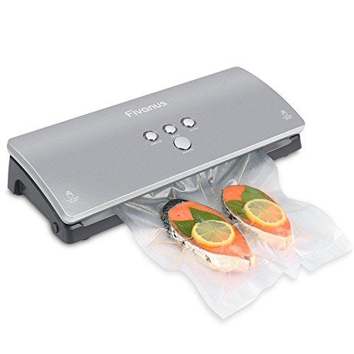 Macchina Sottovuoto Professionale per Alimenti con 10 Sacchetti Trasparenti, Fivanus DS-100