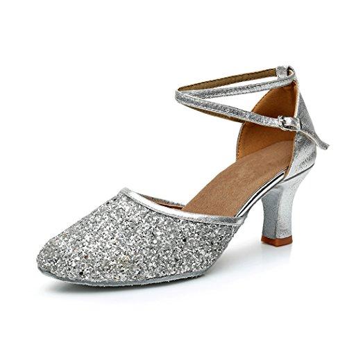 Pantofi pentru femei Standard / Latin / Ballroom Silver