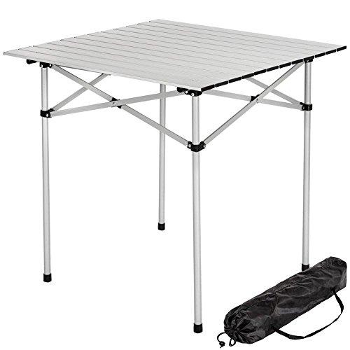Tavolino Camper Campeggio Picnic in Alluminio Pieghevole Arrotolabile Salvaspazio, Bakaj