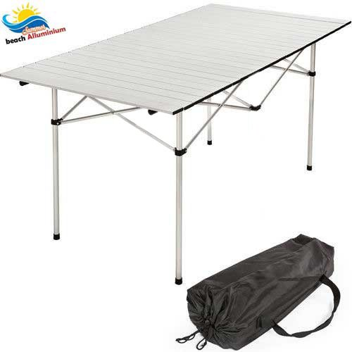 Tavolo Arrotolabile in Alluminio Leggero e Salvaspazio, BAKAJI