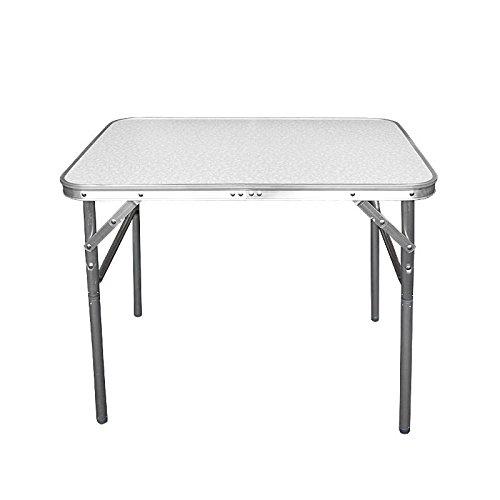 Tavolo da campeggio, giardino, picnic pieghevole in alluminio e regolabile in altezza, Wohaga