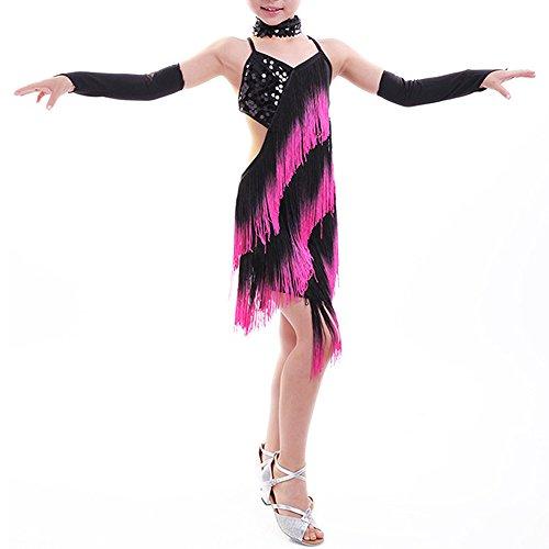 Vestito da ball rosa/nero con pailette