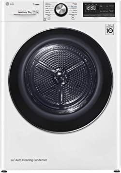 LG RC90V9AV2W Asciugatrice Smart a Carica Frontale 9 Kg, Libera Installazione, Classe A+++ -10%, Intelligenza Artificiale, Oblò in Vetro Temperato, 60 x 69 x 85 cm - Bianco