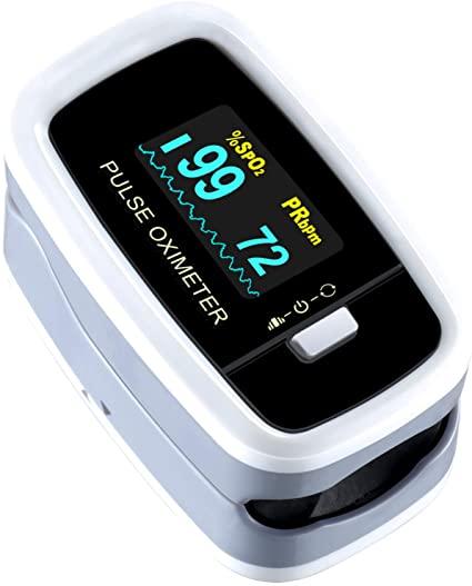 Mpow Pulsossimetro, Saturimetro da dito Display LED, Letture Immediate e Consecutive per La Saturazione di Ossigeno(SpO2) e Frequenza Del Polso(PR)