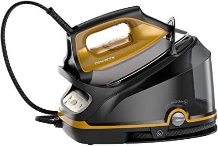 Rowenta Compact Steam PRO DG7644 Ferro da Stiro a Vapore, 2200 W, 1100 milliliters, Nero/Giallo